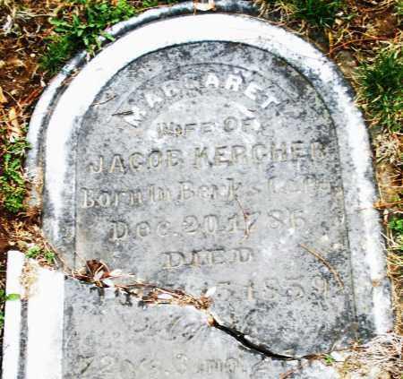 KERCHER, MARGARET - Montgomery County, Ohio   MARGARET KERCHER - Ohio Gravestone Photos