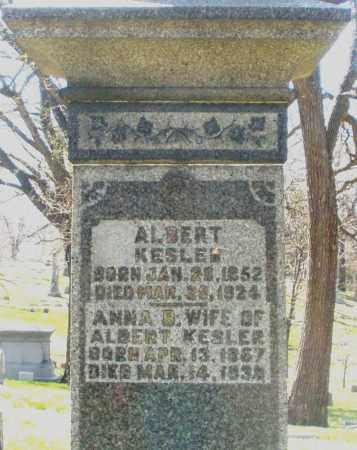 KESLER, ALBERT - Montgomery County, Ohio | ALBERT KESLER - Ohio Gravestone Photos
