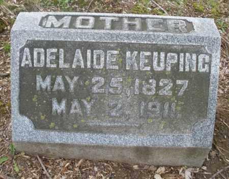 KEUPING, ADELAIDE - Montgomery County, Ohio   ADELAIDE KEUPING - Ohio Gravestone Photos