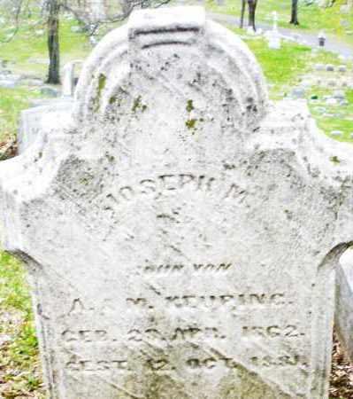 KEUPING, JOSEPH M. - Montgomery County, Ohio | JOSEPH M. KEUPING - Ohio Gravestone Photos