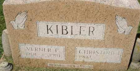 KIBLER, VERNER F. - Montgomery County, Ohio | VERNER F. KIBLER - Ohio Gravestone Photos