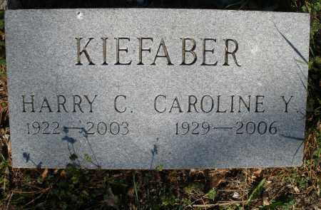 KIEFABER, CAROLINE Y. - Montgomery County, Ohio | CAROLINE Y. KIEFABER - Ohio Gravestone Photos