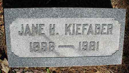KIEFABER, JANE H. - Montgomery County, Ohio | JANE H. KIEFABER - Ohio Gravestone Photos