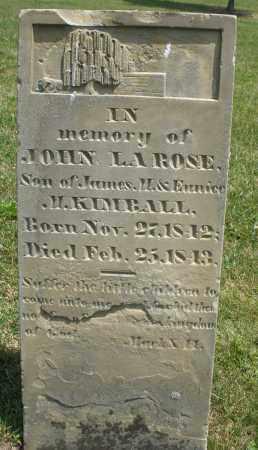 KIMBALL, JOHN LAROSE - Montgomery County, Ohio   JOHN LAROSE KIMBALL - Ohio Gravestone Photos