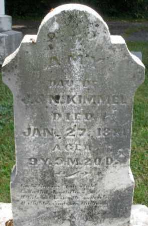 KIMMEL, AMY - Montgomery County, Ohio | AMY KIMMEL - Ohio Gravestone Photos