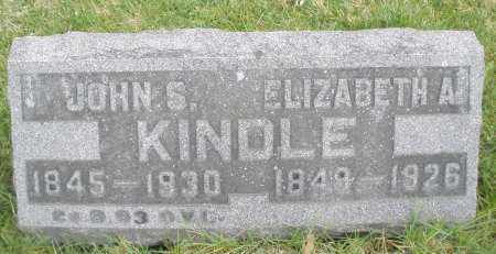 KINDLE, ELIZABETH A. - Montgomery County, Ohio | ELIZABETH A. KINDLE - Ohio Gravestone Photos