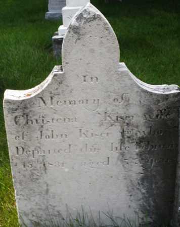 KISER, CHRISTENA - Montgomery County, Ohio | CHRISTENA KISER - Ohio Gravestone Photos