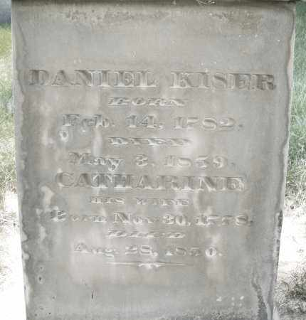 KISER, DANIEL - Montgomery County, Ohio | DANIEL KISER - Ohio Gravestone Photos