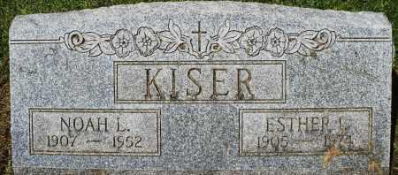 KISER, ESTHER I. - Montgomery County, Ohio | ESTHER I. KISER - Ohio Gravestone Photos