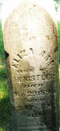 KISTLER, ELIZA ANN - Montgomery County, Ohio   ELIZA ANN KISTLER - Ohio Gravestone Photos