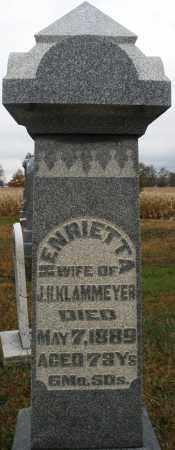 KLAMMEYER, HENRIETTA - Montgomery County, Ohio | HENRIETTA KLAMMEYER - Ohio Gravestone Photos