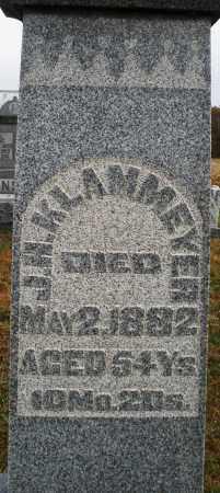 KLAMMEYER, J.H. - Montgomery County, Ohio | J.H. KLAMMEYER - Ohio Gravestone Photos