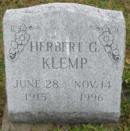 KLEMP, HERBERT G. - Montgomery County, Ohio   HERBERT G. KLEMP - Ohio Gravestone Photos