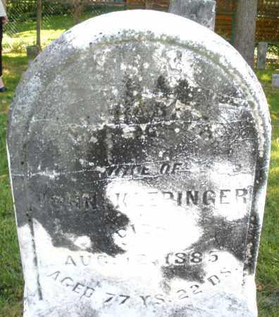KLEPINGER, WIFE - Montgomery County, Ohio   WIFE KLEPINGER - Ohio Gravestone Photos