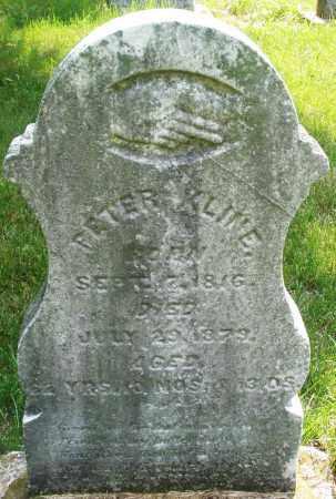KLINE, PETER - Montgomery County, Ohio | PETER KLINE - Ohio Gravestone Photos