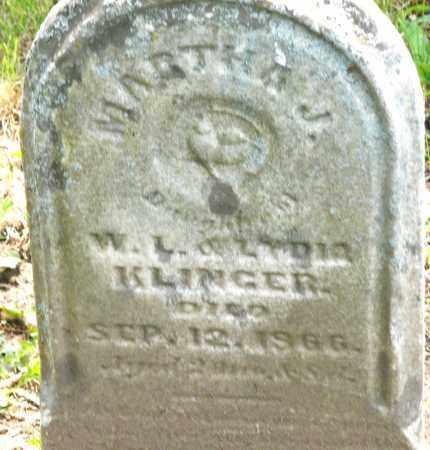 KLINGER, MARTHA J. - Montgomery County, Ohio | MARTHA J. KLINGER - Ohio Gravestone Photos