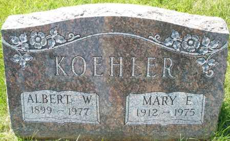KOEHLER, MARY E. - Montgomery County, Ohio | MARY E. KOEHLER - Ohio Gravestone Photos