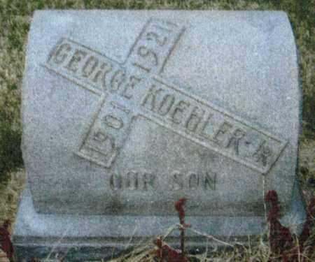 KOEHLER, GEORGE - Montgomery County, Ohio   GEORGE KOEHLER - Ohio Gravestone Photos