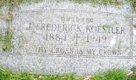 KOESTLER, J. FREDERICK - Montgomery County, Ohio | J. FREDERICK KOESTLER - Ohio Gravestone Photos