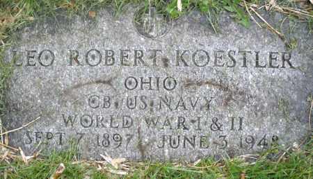 KOESTLER, LEO ROBERT - Montgomery County, Ohio | LEO ROBERT KOESTLER - Ohio Gravestone Photos