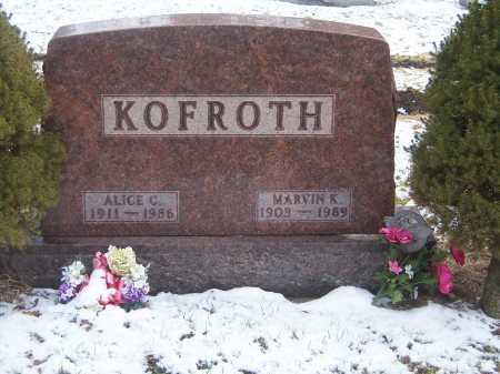 KEPLER KOFROTH, MARVIN - Montgomery County, Ohio | MARVIN KEPLER KOFROTH - Ohio Gravestone Photos