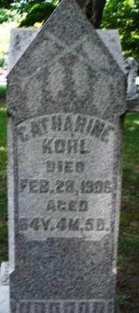 KOHL, CATHARINE - Montgomery County, Ohio | CATHARINE KOHL - Ohio Gravestone Photos