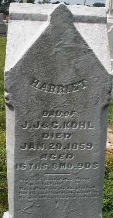 KOHL, HARRIET - Montgomery County, Ohio | HARRIET KOHL - Ohio Gravestone Photos