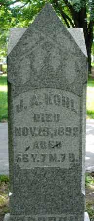 KOHL, J.A. - Montgomery County, Ohio   J.A. KOHL - Ohio Gravestone Photos