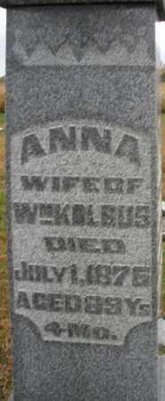 KOLBUS, ANNA - Montgomery County, Ohio   ANNA KOLBUS - Ohio Gravestone Photos