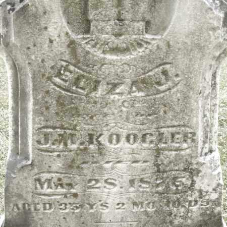 KOOGLER, ELIZA J. - Montgomery County, Ohio   ELIZA J. KOOGLER - Ohio Gravestone Photos