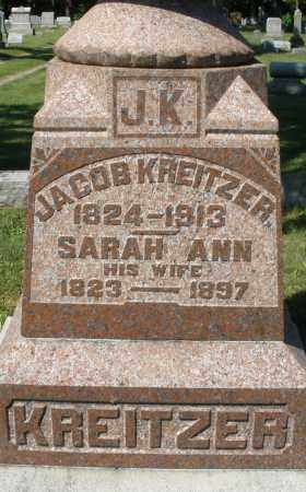 KREITZER, JACOB - Montgomery County, Ohio | JACOB KREITZER - Ohio Gravestone Photos