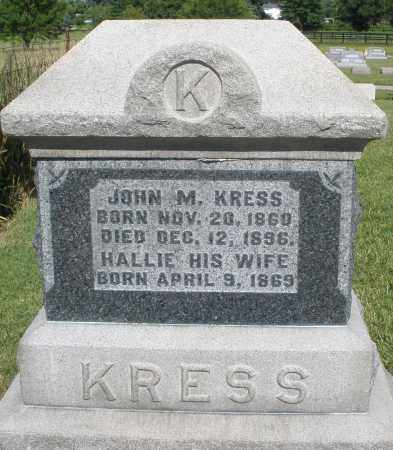 KRESS, HALLIE - Montgomery County, Ohio | HALLIE KRESS - Ohio Gravestone Photos