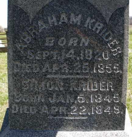 KRIDER, ABRAHAM - Montgomery County, Ohio | ABRAHAM KRIDER - Ohio Gravestone Photos