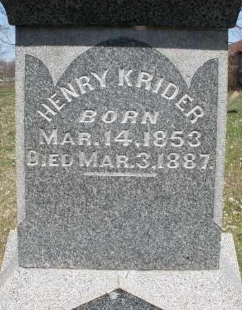 KRIDER, HENRY - Montgomery County, Ohio | HENRY KRIDER - Ohio Gravestone Photos