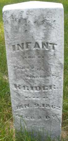 KRIDER, INFANT - Montgomery County, Ohio | INFANT KRIDER - Ohio Gravestone Photos