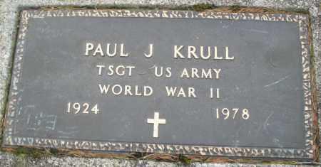 KRULL, PAUL J. - Montgomery County, Ohio | PAUL J. KRULL - Ohio Gravestone Photos