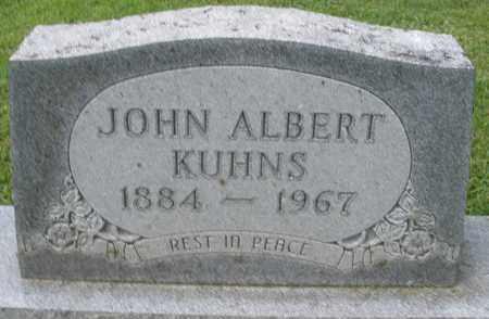 KUHNS, JOHN ALBERT - Montgomery County, Ohio | JOHN ALBERT KUHNS - Ohio Gravestone Photos