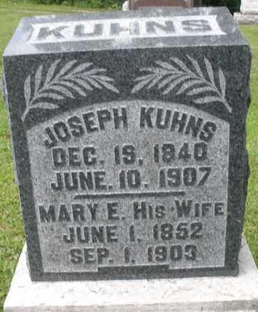KUHNS, MARY E. - Montgomery County, Ohio   MARY E. KUHNS - Ohio Gravestone Photos