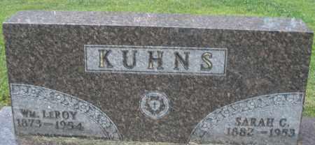 KUHNS, SARAH C. - Montgomery County, Ohio | SARAH C. KUHNS - Ohio Gravestone Photos