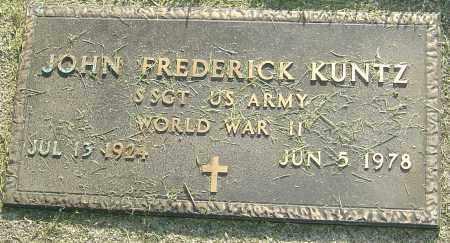 KUNTZ, JOHN FREDERICK - Montgomery County, Ohio | JOHN FREDERICK KUNTZ - Ohio Gravestone Photos