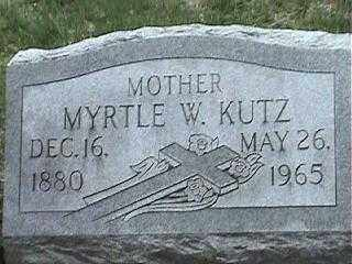 KUTZ, MYRTLE W. - Montgomery County, Ohio   MYRTLE W. KUTZ - Ohio Gravestone Photos