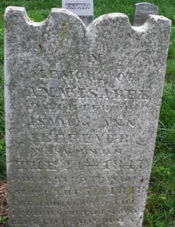 LAFEVER, ANN ISABEL - Montgomery County, Ohio | ANN ISABEL LAFEVER - Ohio Gravestone Photos