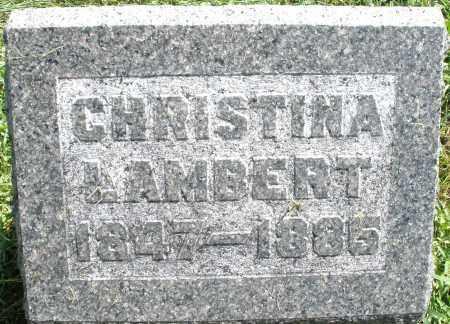 LAMBERT, CHRISTINA - Montgomery County, Ohio | CHRISTINA LAMBERT - Ohio Gravestone Photos