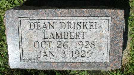 LAMBERT, DEAN DRISKEL - Montgomery County, Ohio   DEAN DRISKEL LAMBERT - Ohio Gravestone Photos
