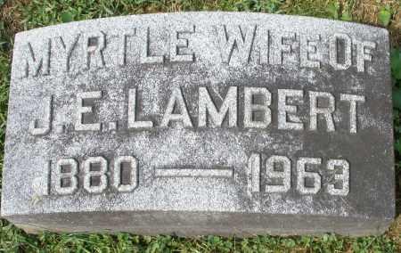 LAMBERT, MYRTLE - Montgomery County, Ohio | MYRTLE LAMBERT - Ohio Gravestone Photos