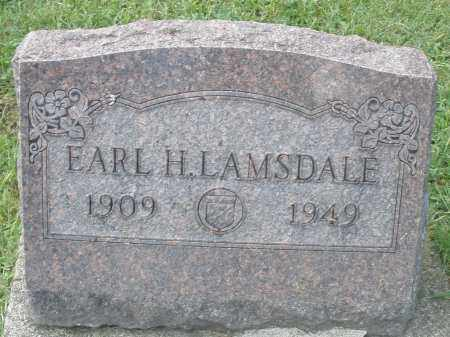 LAMSDALE, EARL H. - Montgomery County, Ohio | EARL H. LAMSDALE - Ohio Gravestone Photos