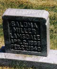 LAMSDALE, SALOMA - Montgomery County, Ohio | SALOMA LAMSDALE - Ohio Gravestone Photos