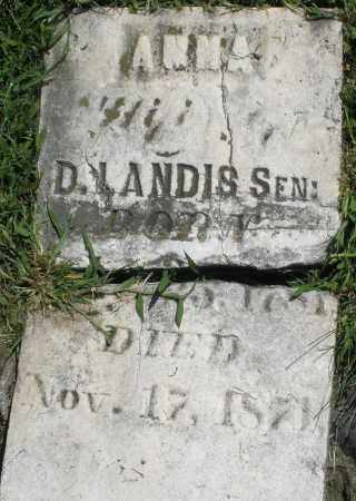 LANDIS, ANNA - Montgomery County, Ohio | ANNA LANDIS - Ohio Gravestone Photos