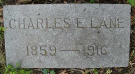 LANE, CHARLES E. - Montgomery County, Ohio | CHARLES E. LANE - Ohio Gravestone Photos