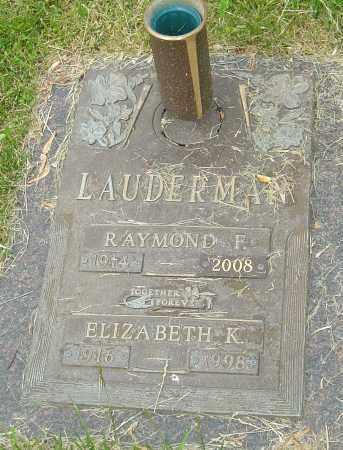 LAUDERMAN, ELIZABETH K - Montgomery County, Ohio | ELIZABETH K LAUDERMAN - Ohio Gravestone Photos